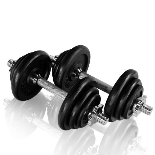 håndvægte sæt på 20 kg samlet