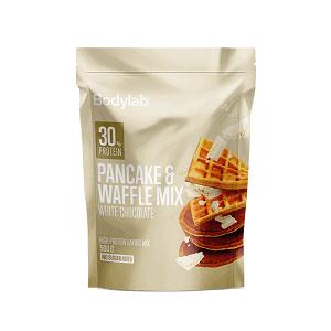pandekage waffle mix med hvid chokolade