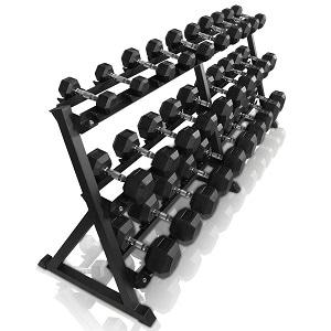 Komplet håndvægt stativ med 15 håndvægte